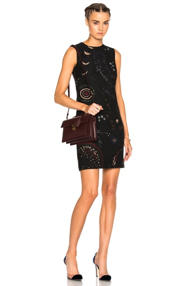 Valentino Astro Shift Dress in Nero