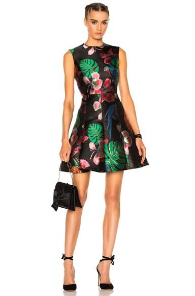 Valentino Tropical Dream Dress in Black