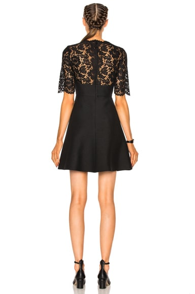 Heavy Lace & Crepe Couture Dress