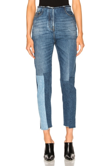 Valentino Patch Skinny Denim in Denim