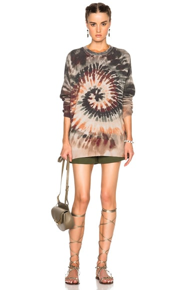 Oversized Long Sleeve Tie Dye Pullover