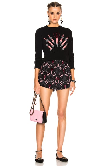 Heart Embroidered Sweater