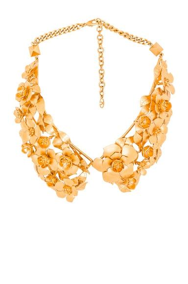 Valentino Garden Party Collar in Matte Gold