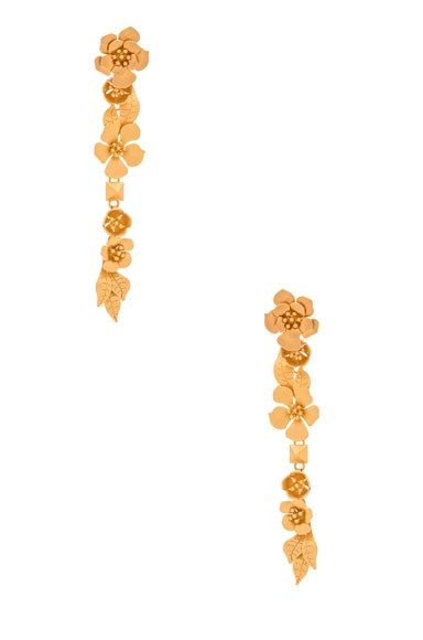 Valentino Garden Party Earrings in Matte Gold