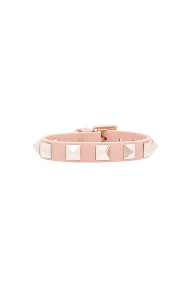 Valentino Rockstud Small Bracelet in Skin Sorbet