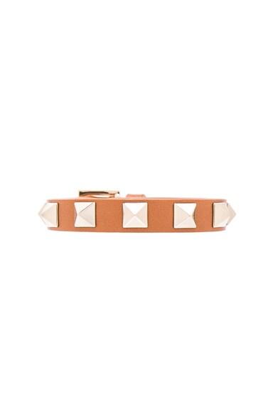 Valentino Rockstud Small Bracelet in Light Cuir