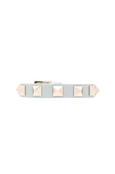 Valentino Rockstud Small Bracelet in Sky Sorbet