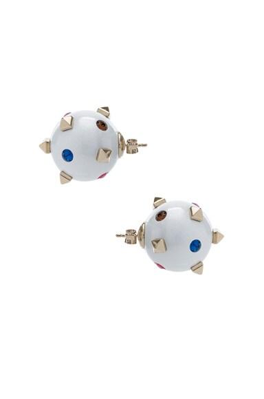 Embellished Pearl Stud Earrings