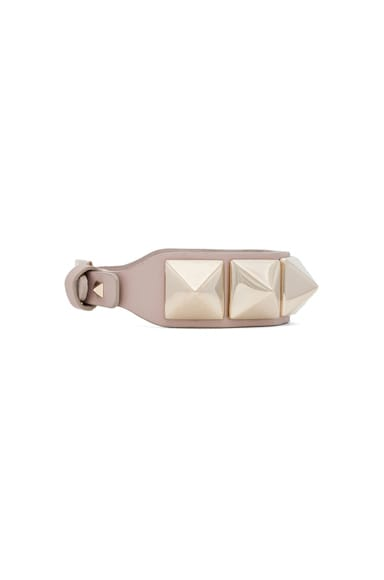 Medium Rockstud Va Va Voom Leather Bracelet