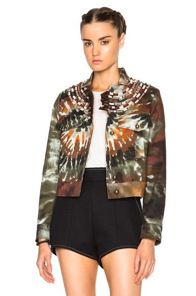 Valentino Tie Dye Fabarine Jacket in Multi