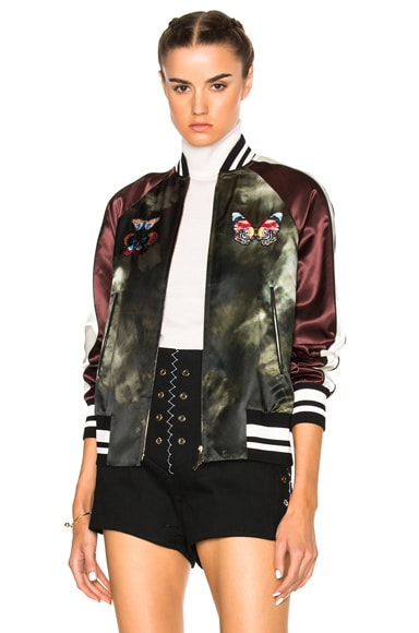 Valentino Butterfly Bomber Jacket in Multi