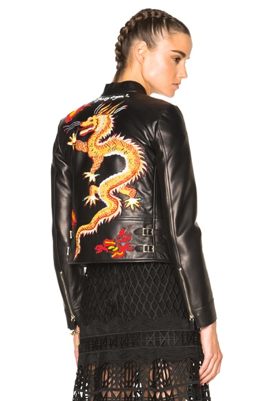 Valentino Dragon Embroidery Jacket in Black