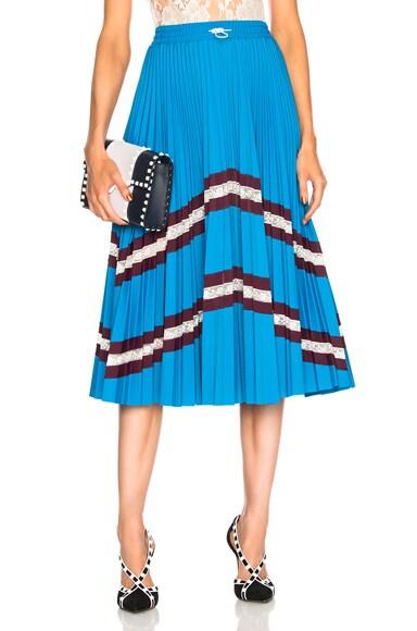 Pleated Jersey Skirt