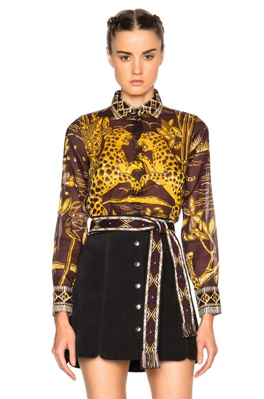 Valentino Jaguar Print Blouse in Multi