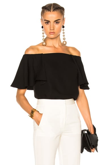 Valentino Off The Shoulder Top in Black
