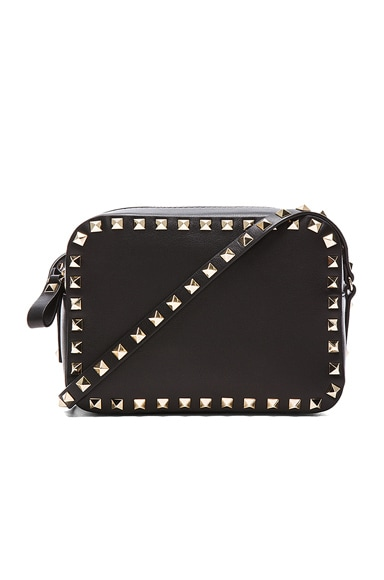 Valentino Rockstud Crossbody Bag in Black