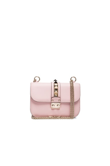 Valentino Small Lock Flap Bag in Water Rose