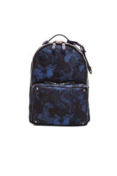 Valentino Camu Butterfly Backpack in Marine