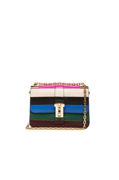 Valentino Rockstud Shoulder Bag in Multicolor Stripe