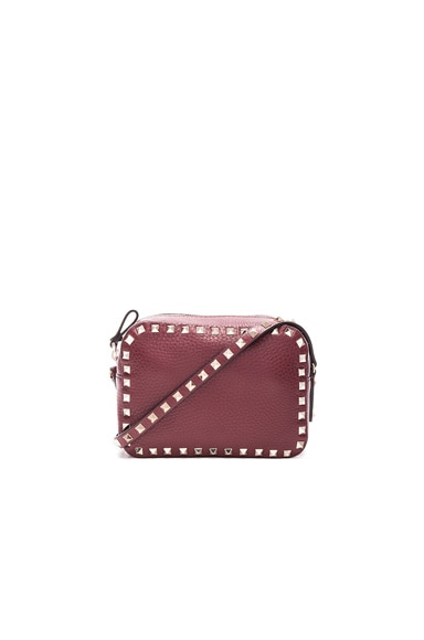 Valentino Rockstud Crossbody Bag in Crimisi