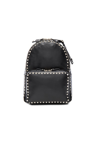 Valentino Rockstud Medium Backpack in Black