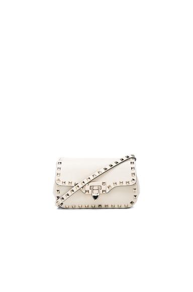 Valentino Rockstud Small Shoulder Bag in Light Ivory