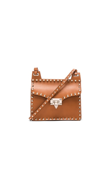 Valentino Rockstud Crossbody Bag in Light Cuir