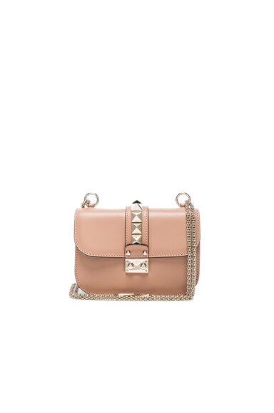 Valentino Small Lock Flap Bag in Soft Noisette