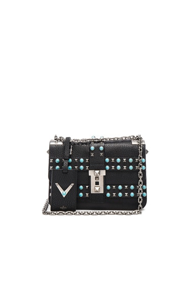 Valentino Rockstud Rolling Bag in Black