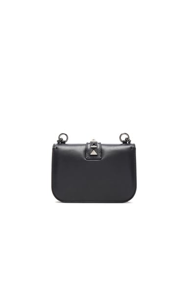 Small Noir Lock Flap Bag