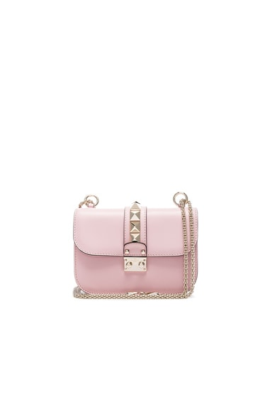 Valentino Small Lock Shoulder Bag in Cipria