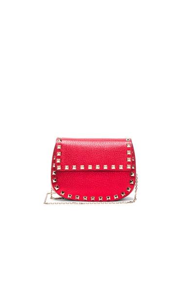 Valentino Rockstud Shoulder Bag in Rosso