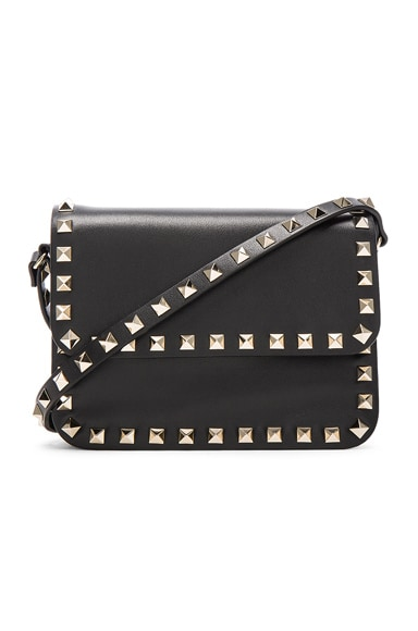 Valentino Rockstud Shoulder Bag in Black