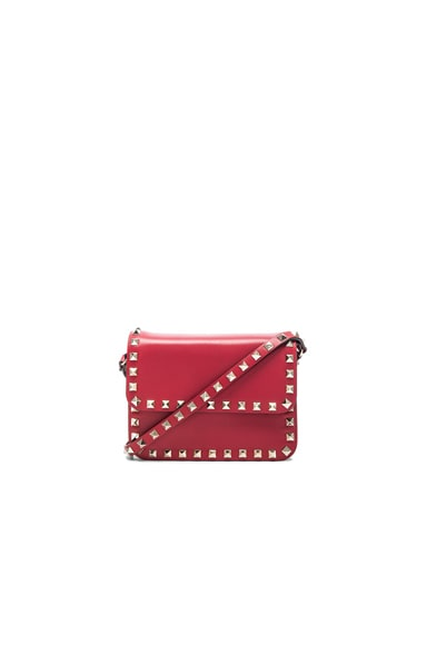 Valentino Rockstud Shoulder Bag in Red