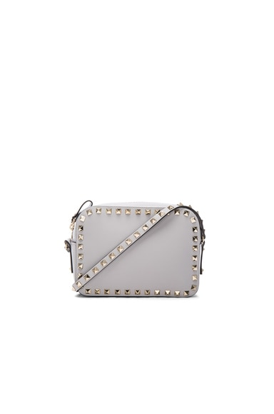 Valentino Rockstud Crossbody Bag in Pastel Grey
