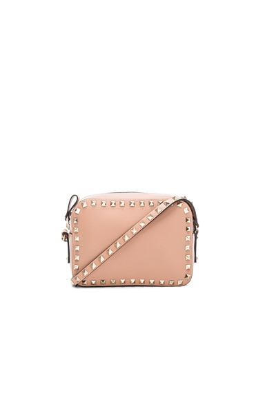 Valentino Rockstud Crossbody Bag in Soft Noisette
