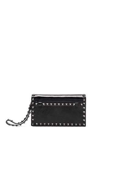 Valentino Rockstud Noir Small Clutch in Black