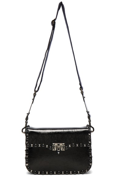 Guitar Rockstud Rolling Noir Shoulder Bag