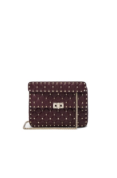 Valentino Quilted Rockstud Medium Shoulder Bag in Rubin
