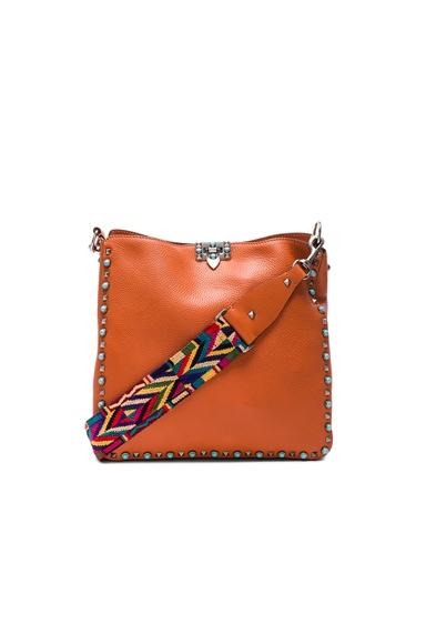 Valentino Rockstud Hobo Bag in Orange