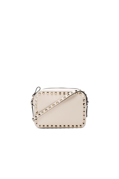 Valentino Rockstud Crossbody Bag in Light Ivory