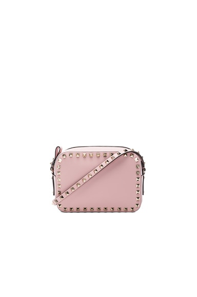Valentino Rockstud Crossbody Bag in Water Rose