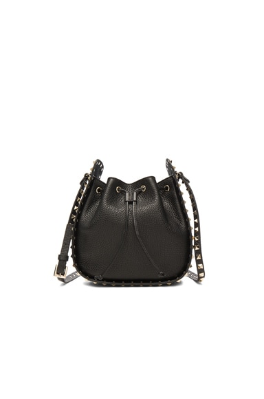 Valentino Rockstud Bucket Bag in Black
