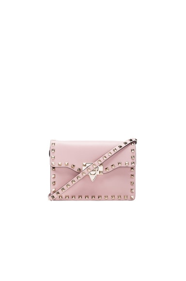 Valentino Small Rockstud Shoulder Bag in Water Rose