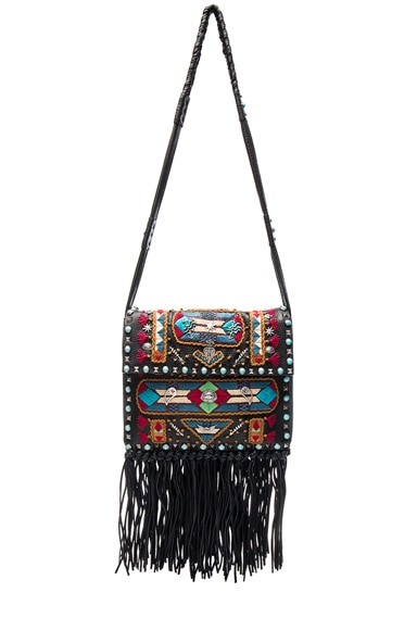 Valentino Santeria Fringe Shoulder Bag in Multi