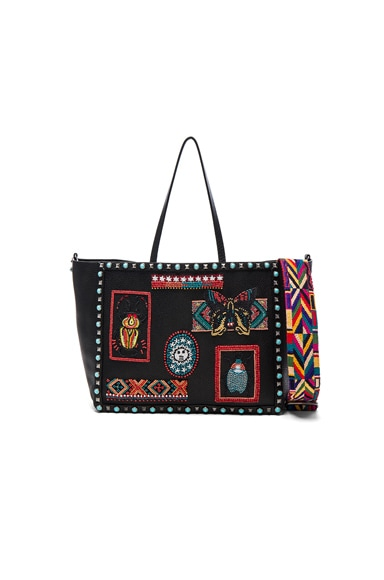 Valentino Medium Santeria Tote in Multi