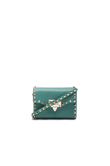 Valentino Small Rockstud Shoulder Bag in Aqua