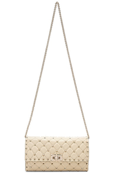 Quilted Rockstud Small Spike Shoulder Bag