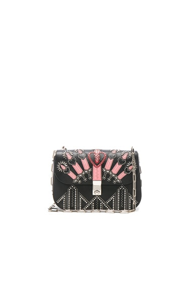 Valentino Metal Loveblade Crossbody Bag in Black