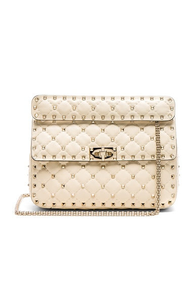 Quilted Rockstud Spike Medium Shoulder Bag Valentino